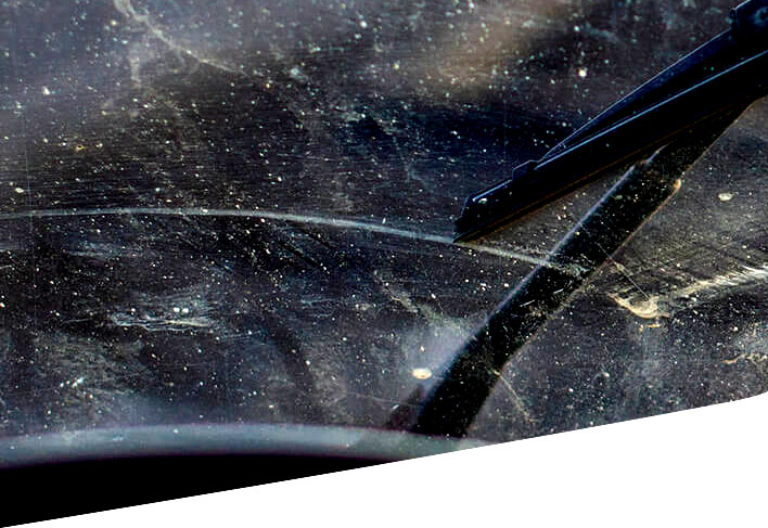 Car window scratch